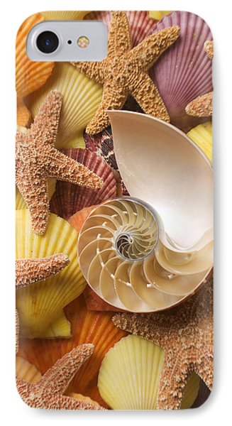 Sea Shells And Starfish Phone Case by Garry Gay