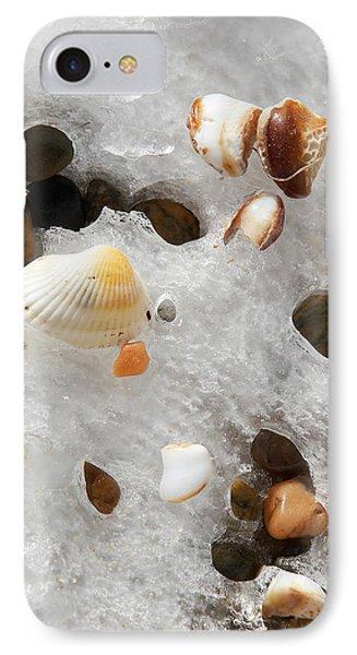 Sea Shells Rocks And Ice Phone Case by Matt Suess