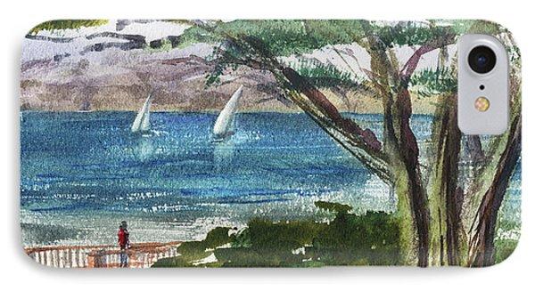 Sea Shore Elongated Painting IPhone Case by Irina Sztukowski