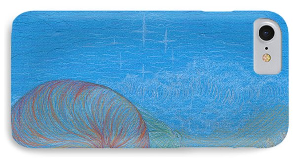 IPhone Case featuring the drawing Sea Shore by Kim Sy Ok