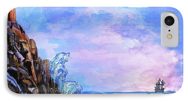 IPhone Case featuring the painting Sea Stories 2  by Andrzej Szczerski