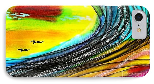 IPhone Case featuring the painting Sea by The Art of Alice Terrill