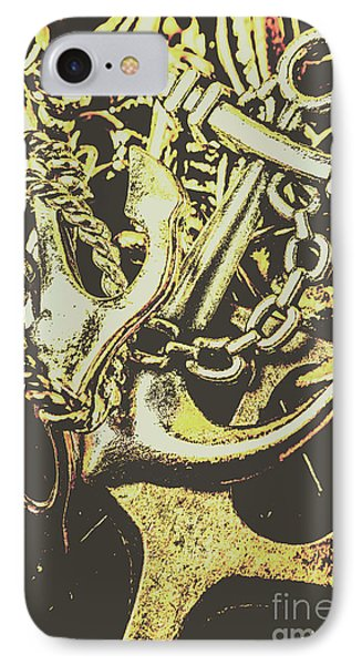 Sea Tides And Maritime Anchors IPhone Case by Jorgo Photography - Wall Art Gallery