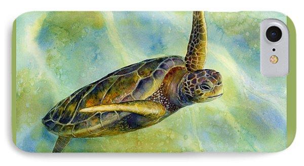 Turtle iPhone 7 Case - Sea Turtle 2 by Hailey E Herrera