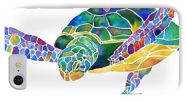 Sea Turtle Celebration 4 Prints Only IPhone 7 Case by Jo Lynch