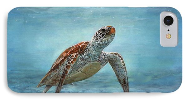 Sea Turtle IPhone Case by David Stribbling