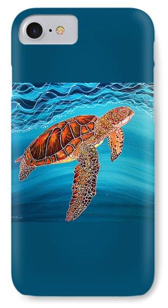 Sea Turtle IPhone Case by Debbie Chamberlin