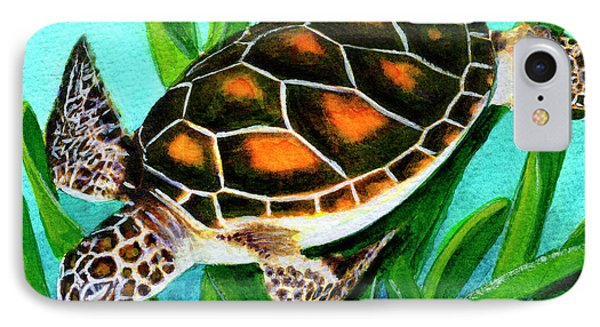Sea Turtle Honu #352 Phone Case by Donald k Hall