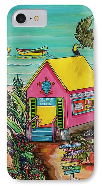 IPhone Case featuring the painting Sea Turtle Rescue Center by Patti Schermerhorn