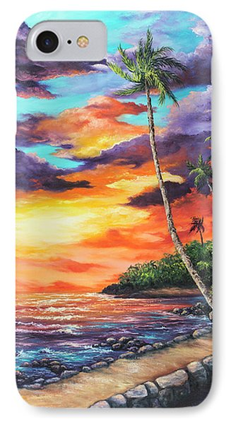 IPhone Case featuring the painting Sea Wall Lahaina by Darice Machel McGuire