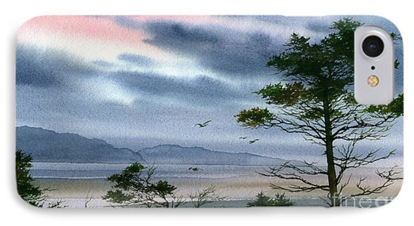 Seacoast Winter Sunset Phone Case by James Williamson