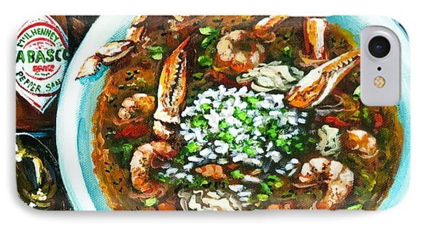 Food And Beverage iPhone 7 Case - Seafood Gumbo by Dianne Parks