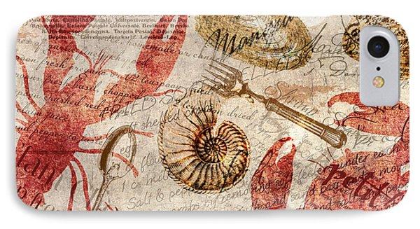 Seafood Restaurant Postcard IPhone Case