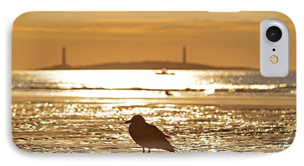 Seagull Admiring Thacher Island Gloucester Ma Good Harbor Beach IPhone Case by Toby McGuire