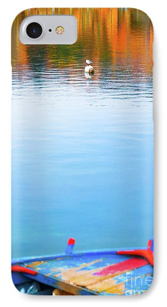 IPhone Case featuring the photograph Seagull And Boat by Silvia Ganora