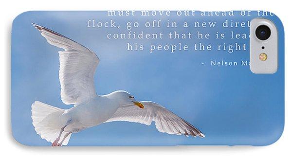 Seagull Flying High IPhone Case by Amanda Elwell