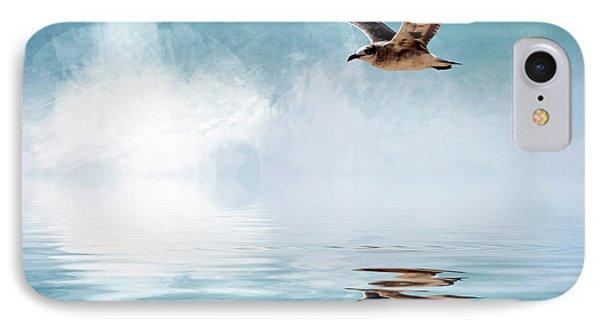 Seagull In Flight IPhone Case by Cyndy Doty