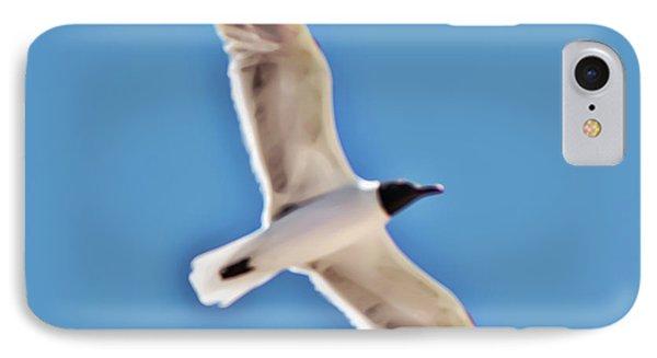 Seagull In Flight IPhone Case by Gina O'Brien