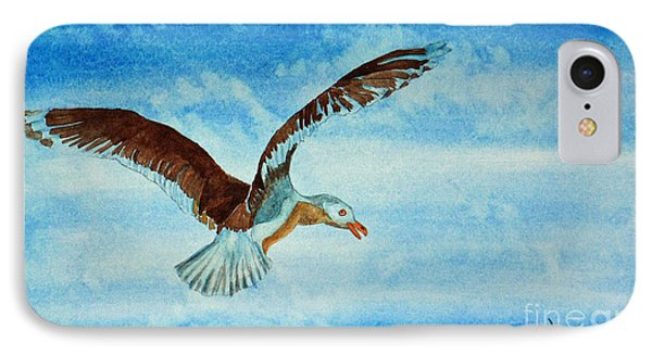 Seagull In Flight Phone Case by Terri Mills