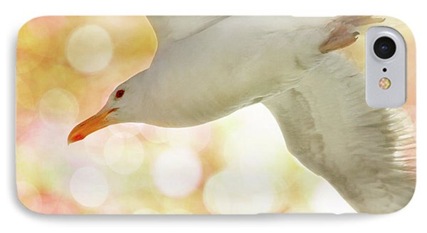 Seagull On Pink And Yellow Sky IPhone Case