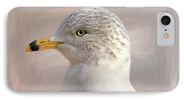 Seagull Portrait IPhone Case by Donna Kennedy