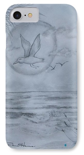 Seagull Sunset IPhone Case by Carlene Harris