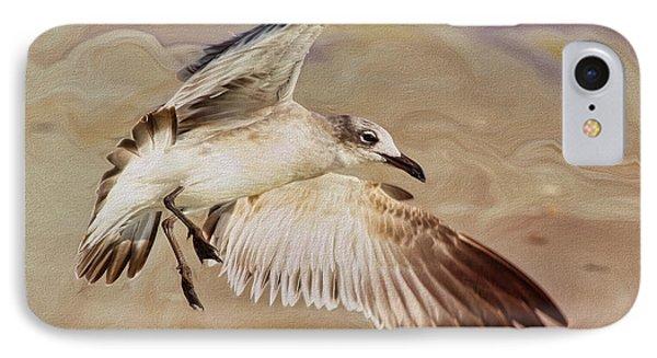 Seagull Swirl IPhone Case by Deborah Benoit