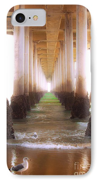 IPhone Case featuring the photograph Seagull Under The Pier by Jerry Cowart