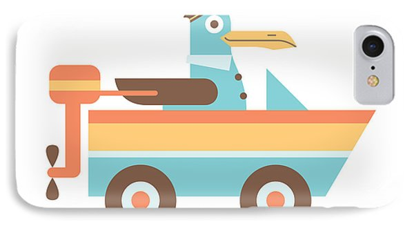 Seagull Sailor IPhone Case by Mitch Frey