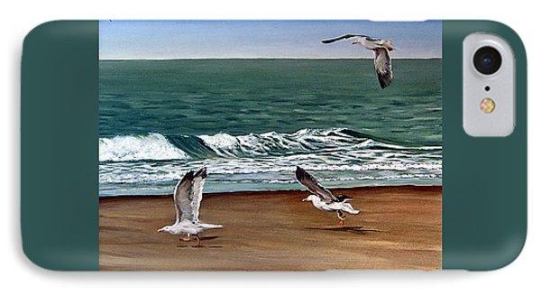 Seagulls 2 Phone Case by Natalia Tejera