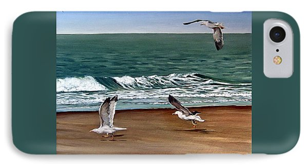 Seagulls 2 IPhone Case by Natalia Tejera