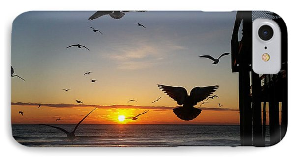 Seagulls At Sunrise IPhone Case