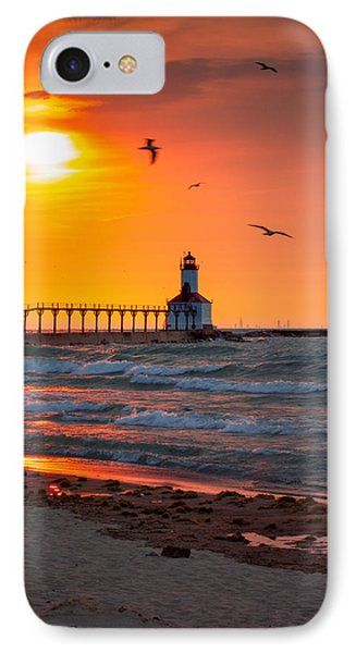Seagulls At Sunset IPhone Case by Jackie Novak