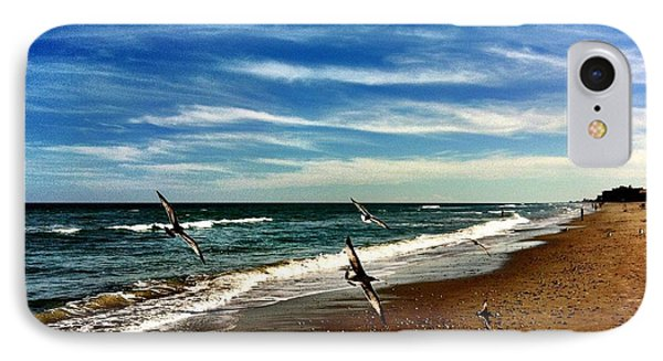 Seagulls At The Beach IPhone Case by Carlos Avila