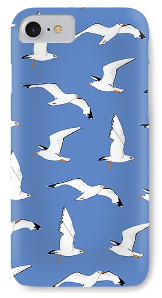 Seagulls Gathering At The Cricket IPhone Case by Elizabeth Tuck