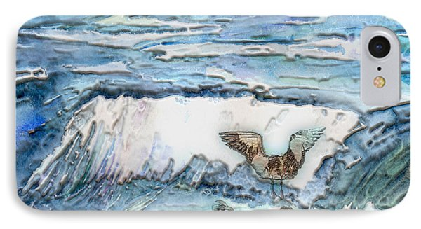 Seagulls In The Surf IPhone Case