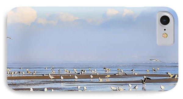 Seagulls On A Beach Phone Case by Svetlana Sewell