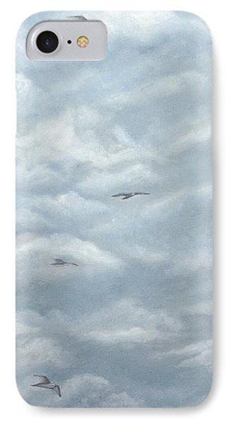 Seagulls Playground IPhone Case by Angeles M Pomata