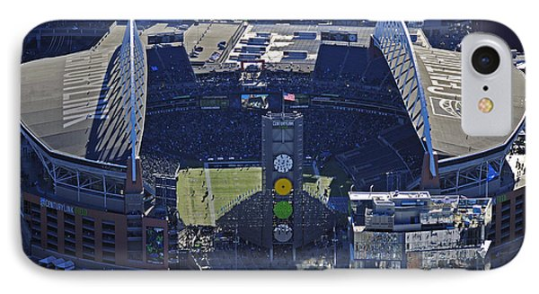 IPhone Case featuring the photograph Seahawk Stadium by Jack Moskovita