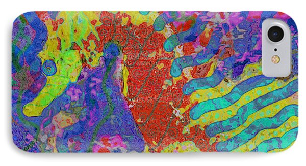 IPhone Case featuring the painting Seahorse Abstract by David Mckinney