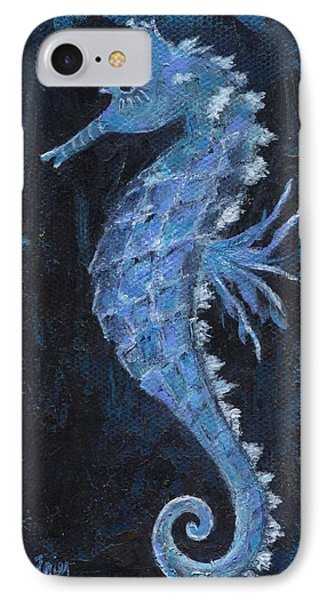 IPhone Case featuring the painting Seahorse by Jamie Frier