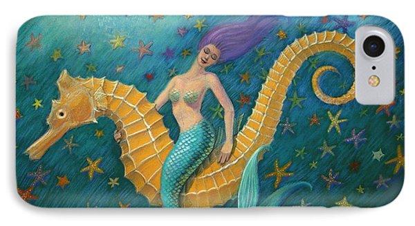 Seahorse iPhone 7 Case - Seahorse Mermaid by Sue Halstenberg