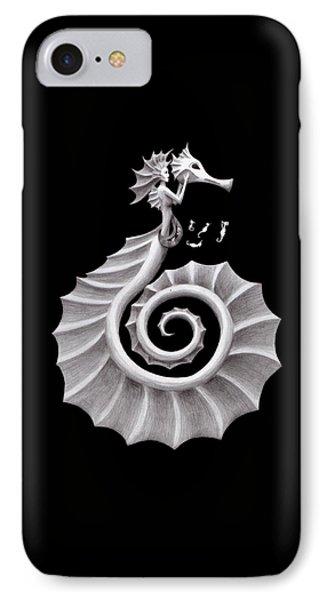 Seahorse Siren IPhone Case by Sarah Krafft