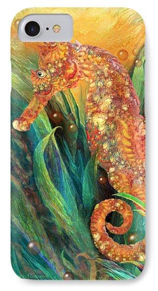 Seahorse - Spirit Of Contentment Phone Case by Carol Cavalaris