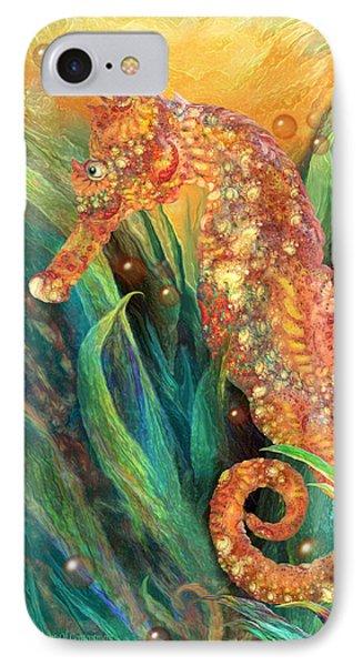 Seahorse - Spirit Of Contentment IPhone Case by Carol Cavalaris