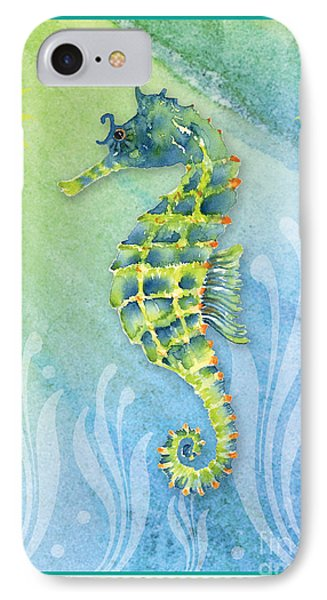 Seahorse Blue Green IPhone 7 Case by Amy Kirkpatrick