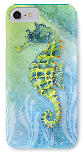 Seahorse Blue Green IPhone Case by Amy Kirkpatrick
