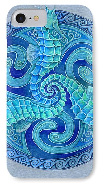 Seahorse Triskele IPhone Case by Rebecca Wang