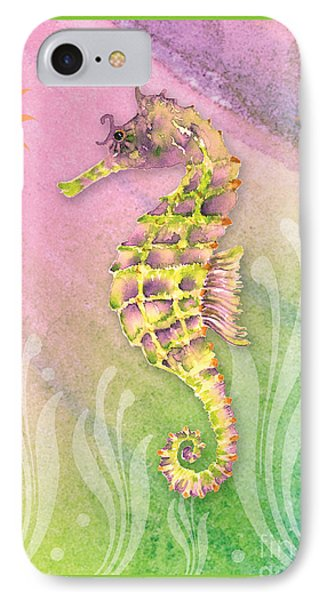 Seahorse Violet IPhone 7 Case by Amy Kirkpatrick