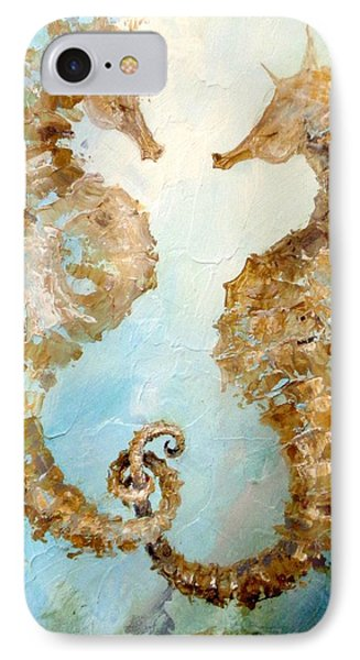 Seahorses In Love 2016 IPhone Case by Dina Dargo